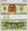 Image of Boxer Dog Novelty Currency Bill