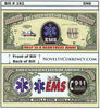 Image of EMS - Emergency Medical Services Novelty Currency Bill