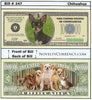 Image of Chihuahua Dog Novelty Currency Bill