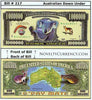 Image of Australian Down Under Novelty Currency Bill