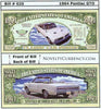 Image of 1964 Pontiac GTO Classic Car Novelty Currency Bill