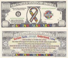 Autism Novelty Currency Bill