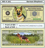 Image of German Shepherd Novelty Currency Bill