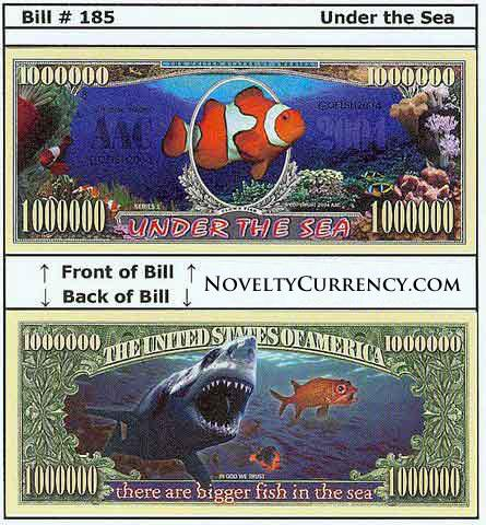 Under the Sea Novlty Currency Bill