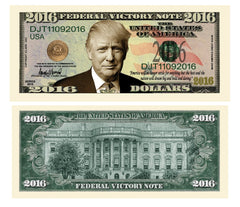 Donald Trump Presidential Victory Novelty Currency Bill
