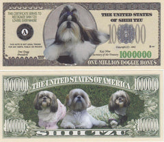 Shih Tzu Dog Novelty Currency Bill
