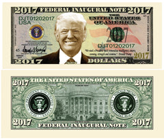 Donald Trump Presidential Inauguration Novelty Currency Bill
