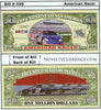 Image of American Racer (Stock Cars) Novelty Currency Bill