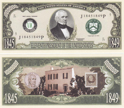 James Polk - 11th President Of The United States Bill