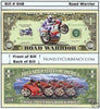 Image of Road Warrior (Racing Bikes) Novelty Currency Bill
