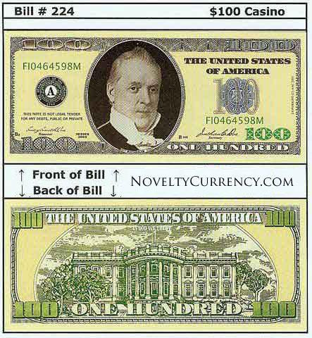 $100 Funny Money Novelty Currency Bill