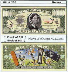 Nurses - World's Greatest Nurse Novelty Currency Bill