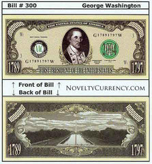 George Washington - 1st President of the United States Bill