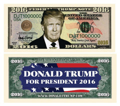Donald Trump Presidential Candidate Novelty Currency Bill