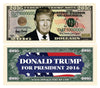 Image of Donald Trump Presidential Candidate Novelty Currency Bill