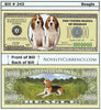 Image of Beagle Dog Novelty Currency Bill