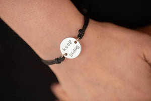 Keep Going Stamped Corded Bracelet