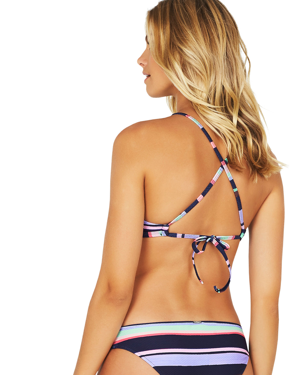 SARDINIA HIGH NECK LACE UP BRA BIKINI TOP