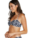 GEOTIDE RING FRONT BANDEAU BIKINI TOP