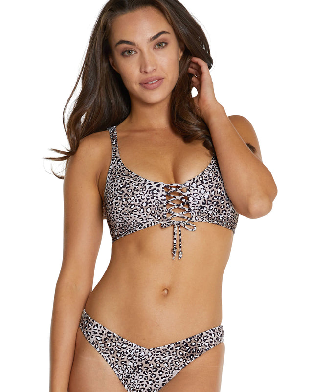 KAMALA LACE UP BRA BIKINI TOP