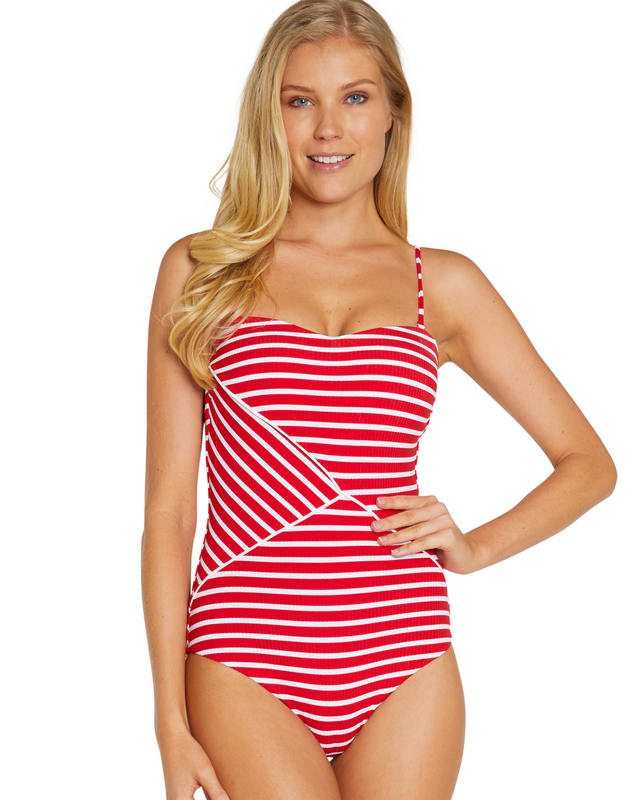 PORTOFINO MOULDED BANDEAU ONE PIECE SWIMWEAR
