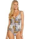 BOHEME ZIP FRONT ONE PIECE SWIMSUIT