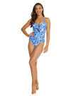 MYKONOS LACEUP PLUNGE ONE PIECE SWIMSUIT