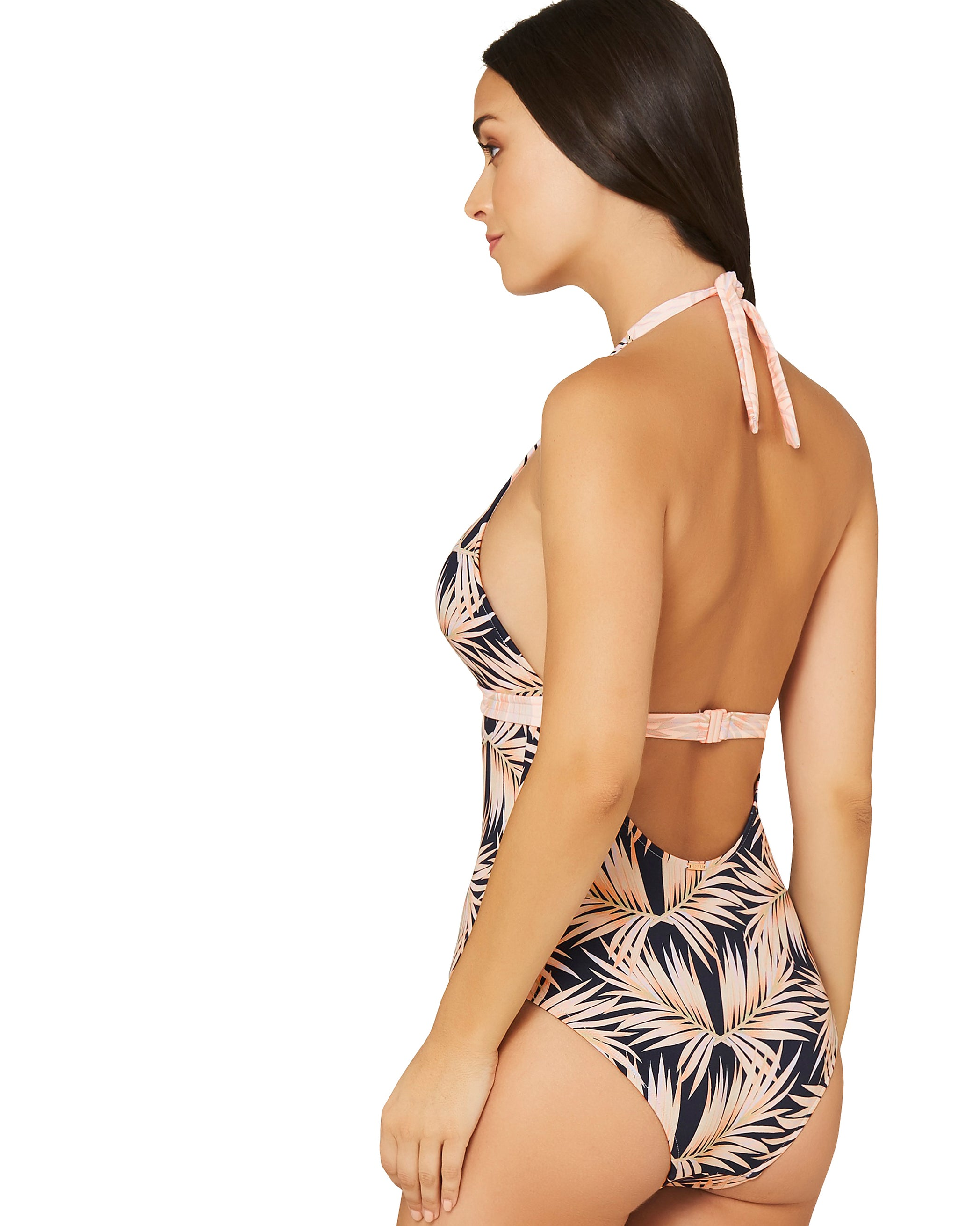 BAHAMA SUMMER HALTER ONE PIECE SWIMSUIT