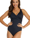 ECO ESSENTIALS C/DD CROSSOVER UNDERWIRE ONE PIECE SWIMSUIT
