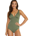 SPOTACULAR E/F LONGLINE ONE PIECE SWIMSUIT