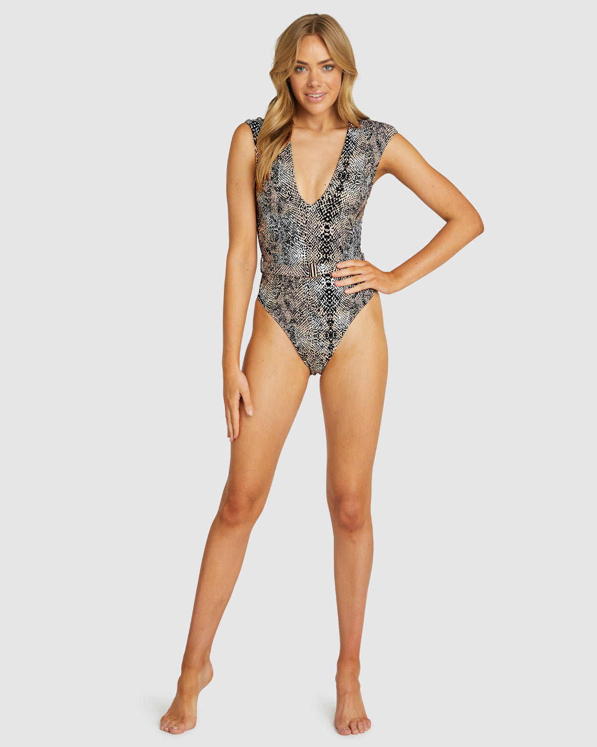 ANIMALIA BELTED ONE PIECE