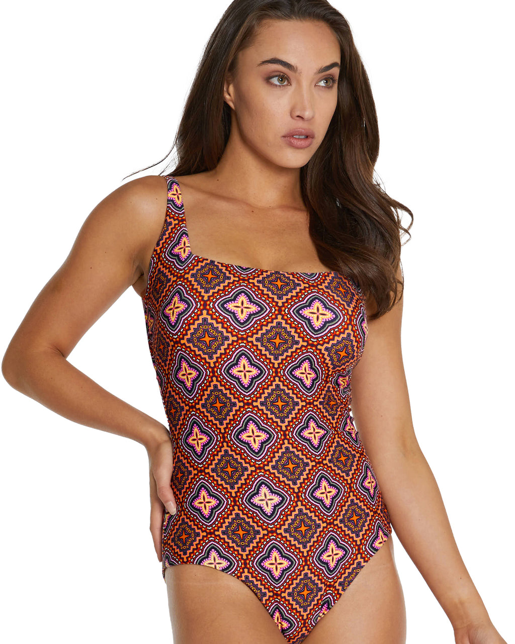 HACIENDA D-E UNDERWIRE SQUARE ONE PIECE SWIMSUIT