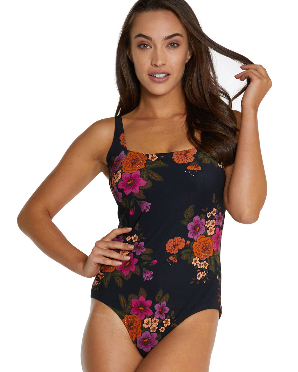 SOMERSET D-E UNDERWIRE SQUARE ONE PIECE SWIMSUIT