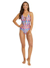 ZANADU PLUNGE LACEUP ONE PIECE SWIMSUIT