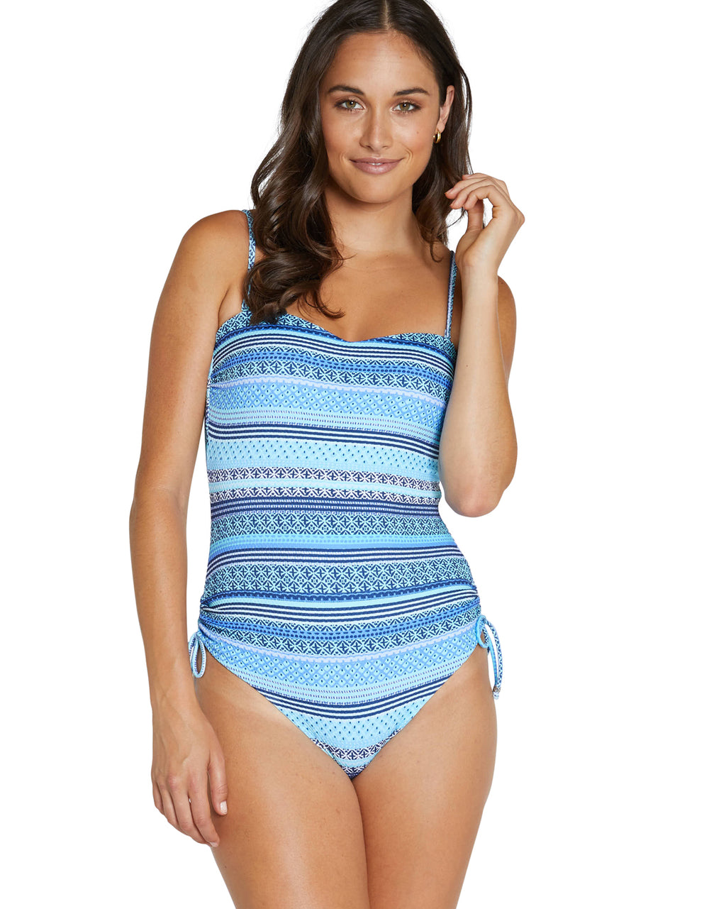 SPICED TRIBES MOULDED BANDEAU ONE PIECE