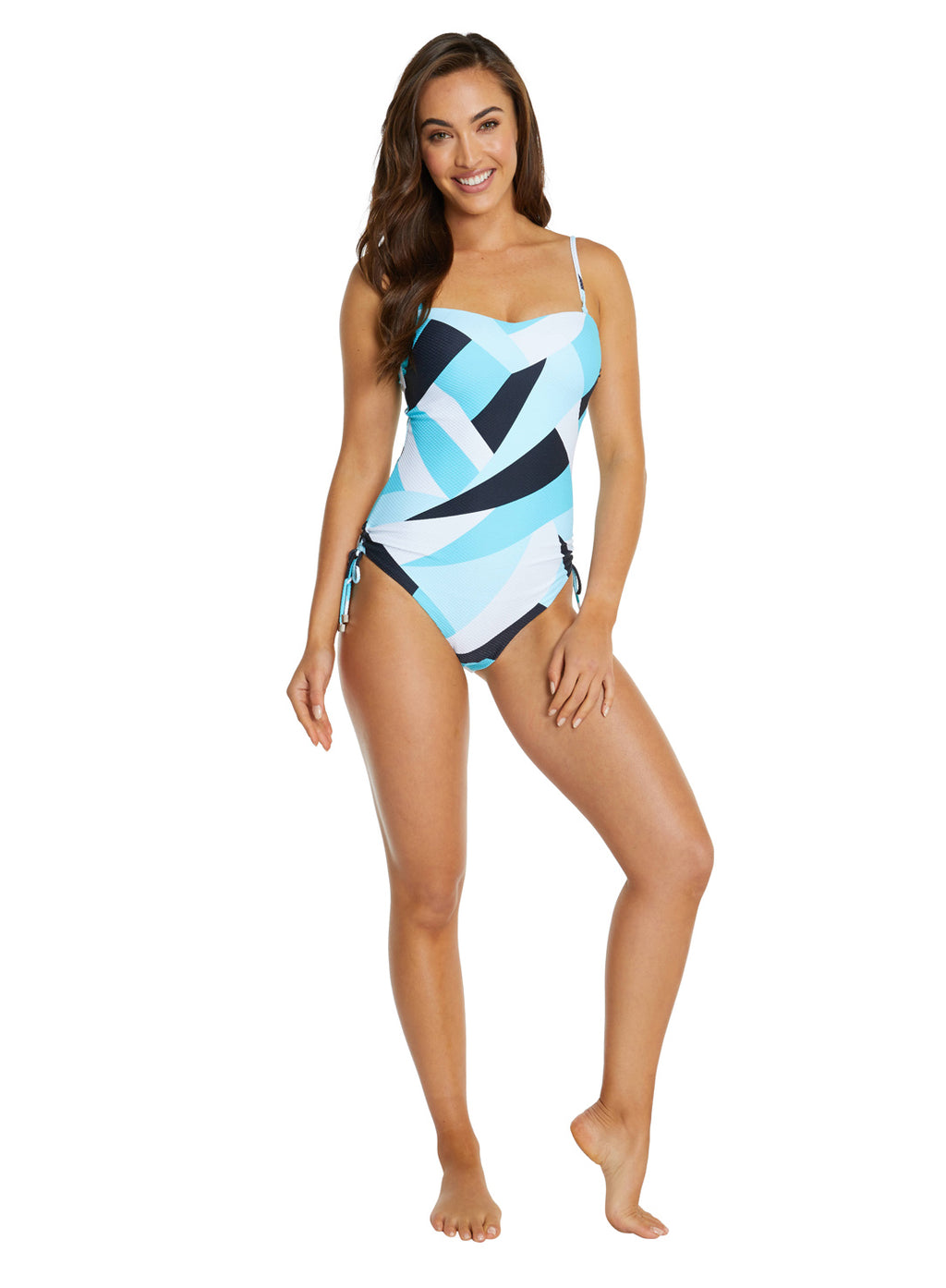 KINETIC MOULDED BANDEAU ONE PIECE SWIMWSUIT