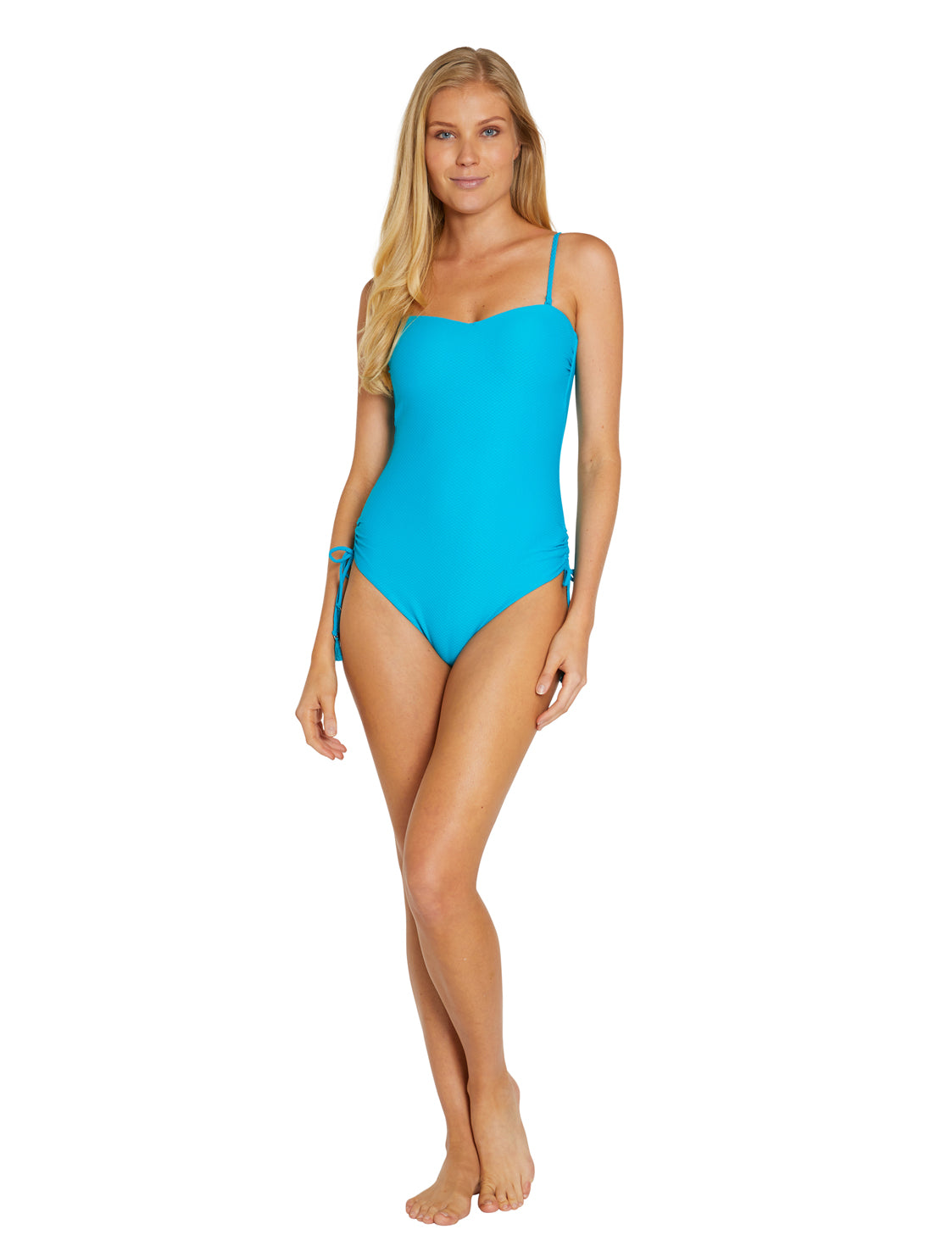 ROCOCCO MOULDED BANDEAU ONE PIECE SWIMSUIT