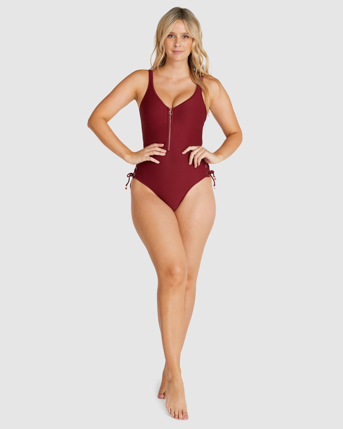 RIBTIDE ZIP FRONT ONE PIECE