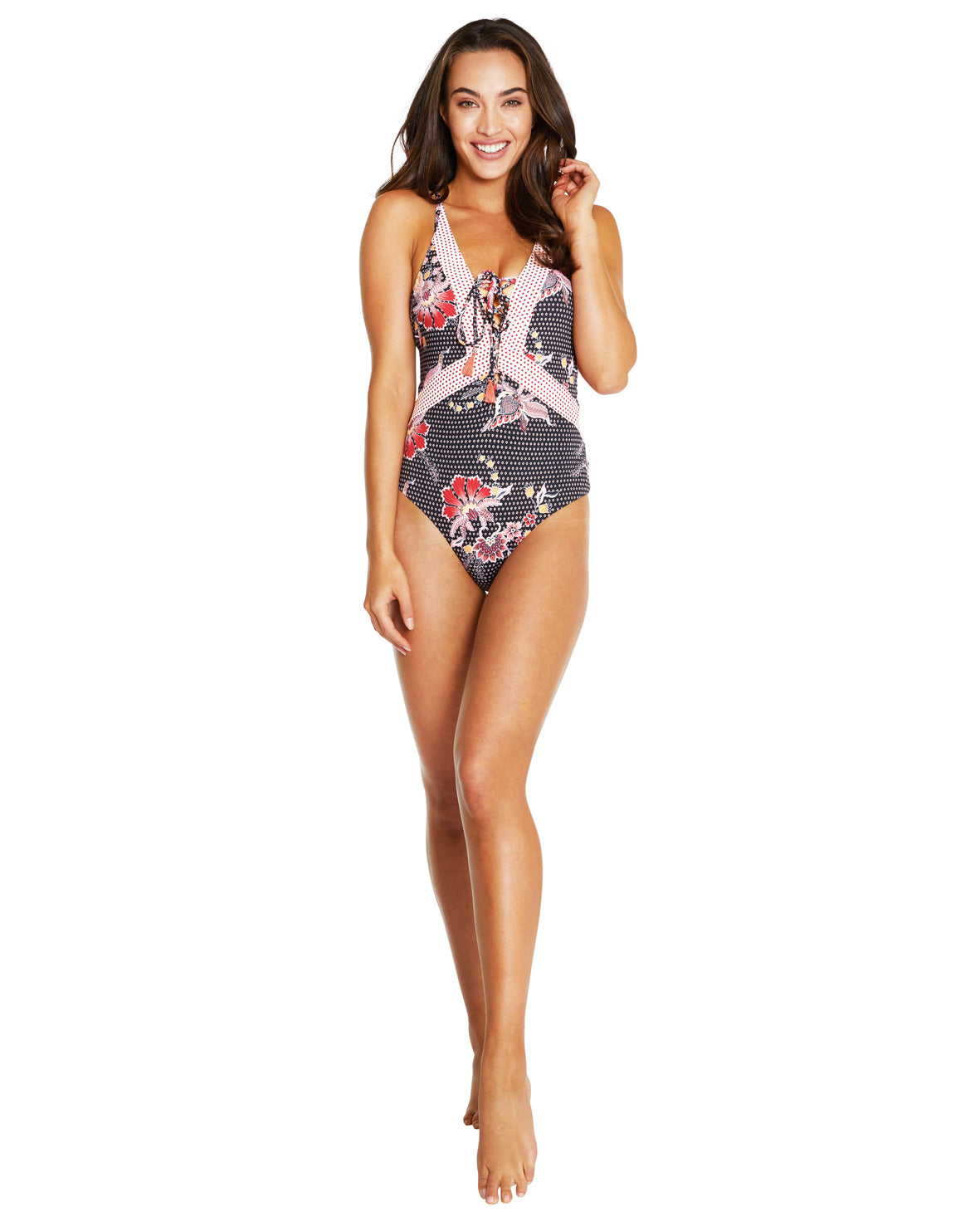 GILI ISLAND PLUNGE ONE PIECE SWIMSUIT