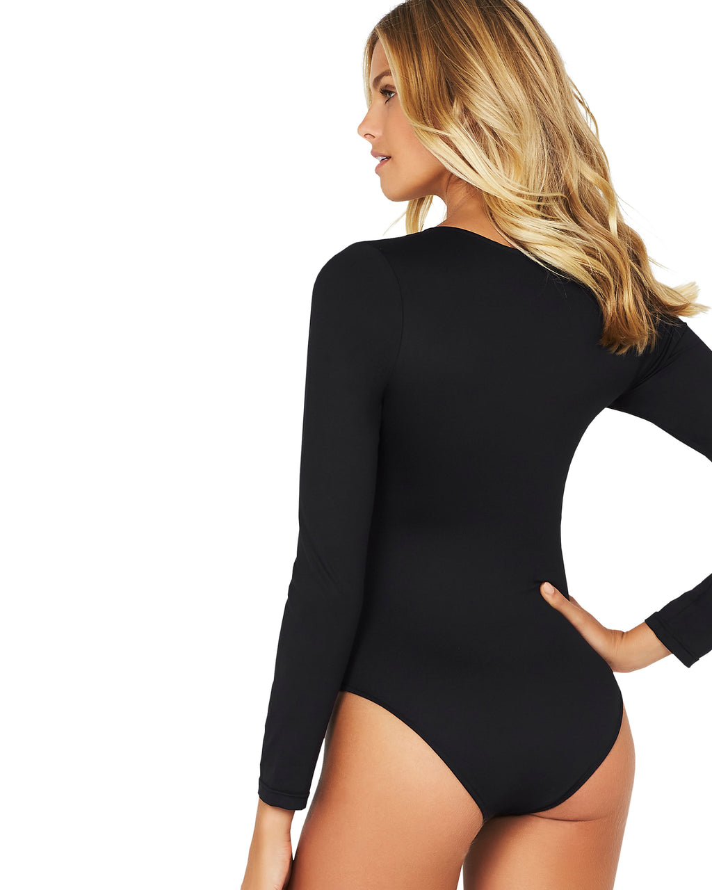 SUN SAVVY LONG SLEEVE LACE UP SURF SUIT