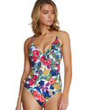 SEYCHELLES ASYMMETRICAL FRILL ONE PIECE