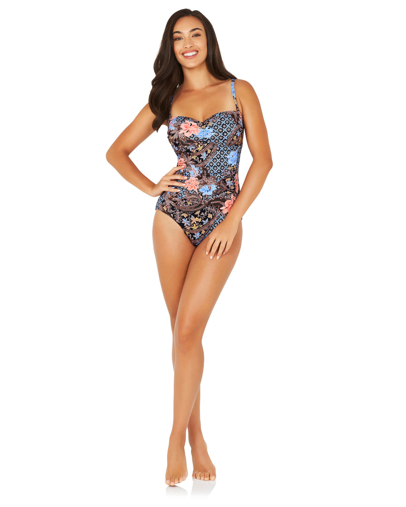 BATIKA BEACH MOULDED C/DD BANDEAU ONE PIECE SWIMSUIT