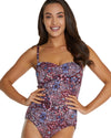 GALAPAGOS MOULDED C-DD CUP BANDEAU ONE PIECE SWIMSUIT
