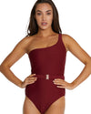 RIBTIDE ASYMMETIRCAL ONE PIECE SWIMWEAR