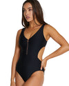 RIBTIDE CUT-OUT ONE PIECE SWIMSUIT