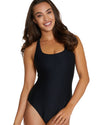 RIBTIDE RING BACK ONE PIECE SWIMSUIT
