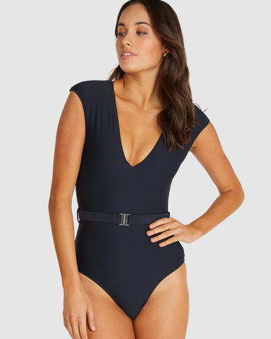 ROCOCCO BELTED PLUNGE ONE PIECE