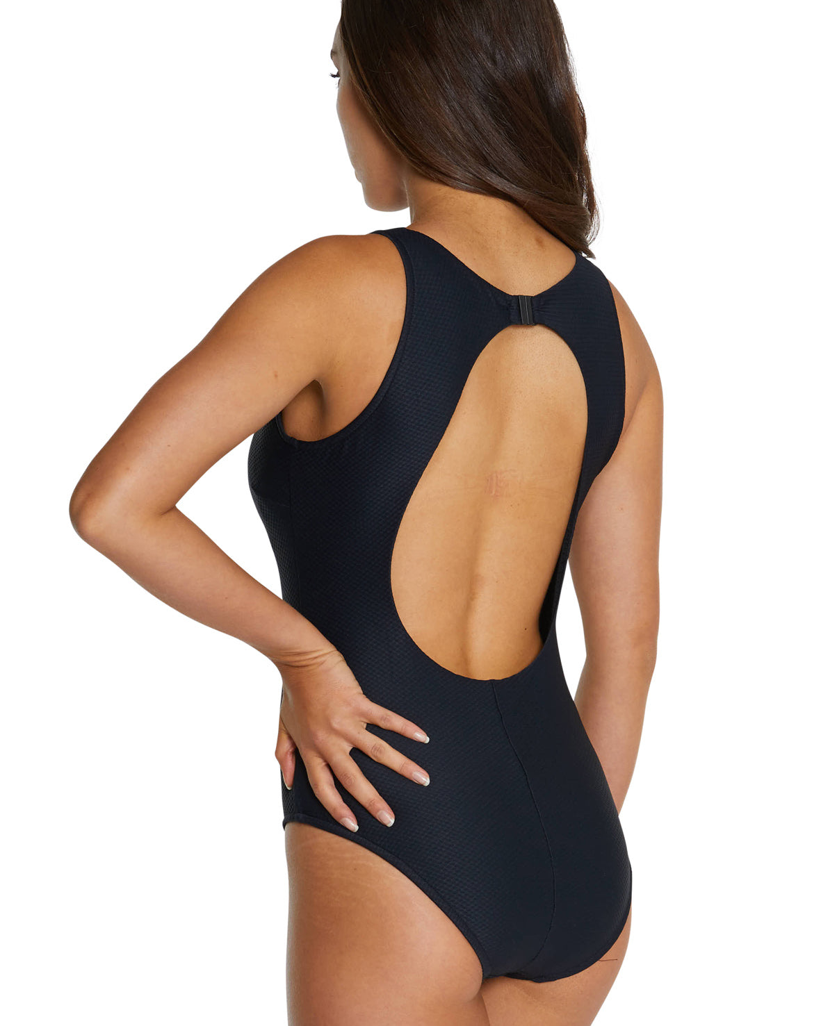 ROCOCCO HIGH NECK KEYHOLE ONE PIECE SWIMSUIT