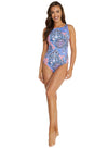 GALAPAGOS HIGH NECK KEYHOLE ONE PIECE SWIMSUIT