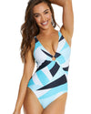 KINETIC LONGLINE ONE PIECE SWIMSUIT